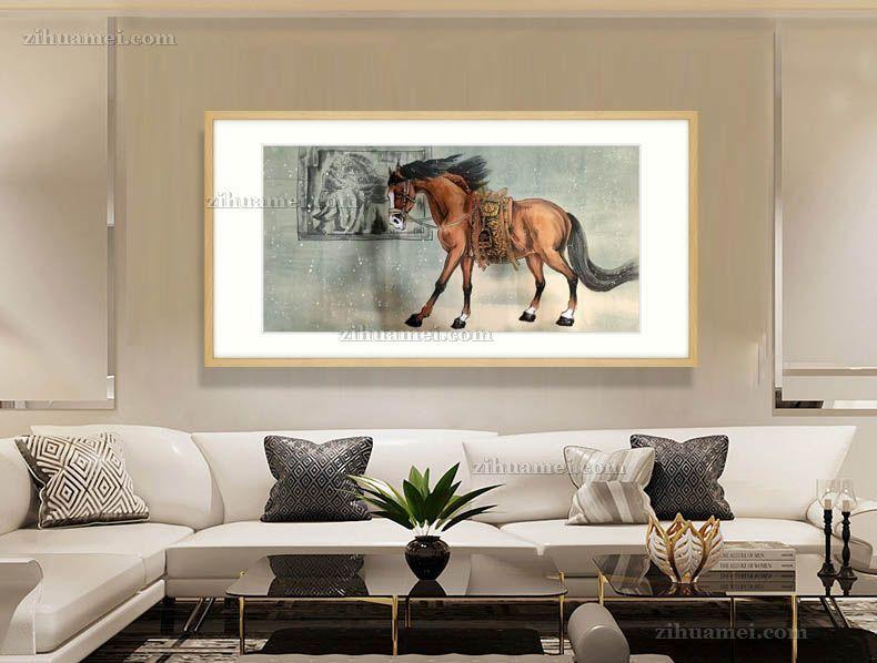 客厅挂什么动物国画