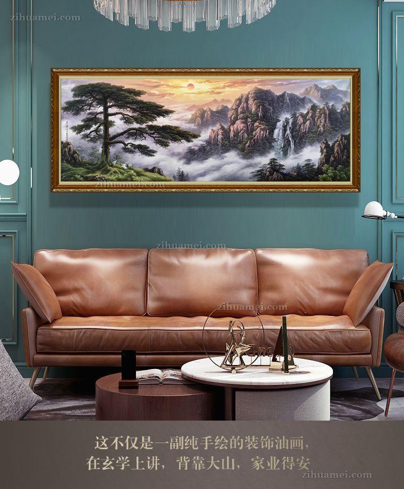 适合办公室大厅的风景油画