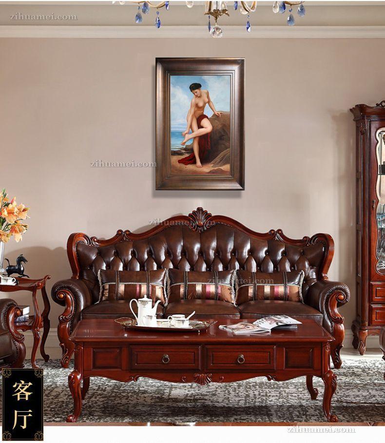 适合酒店的人物美女油画