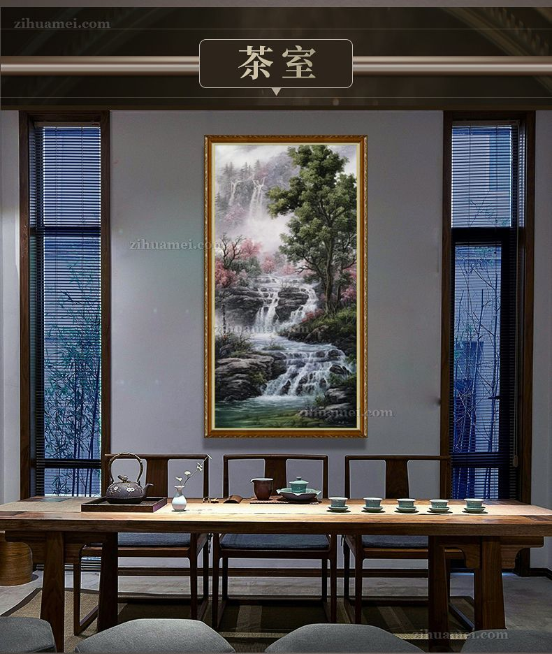 玄关适合什么样的风景油画