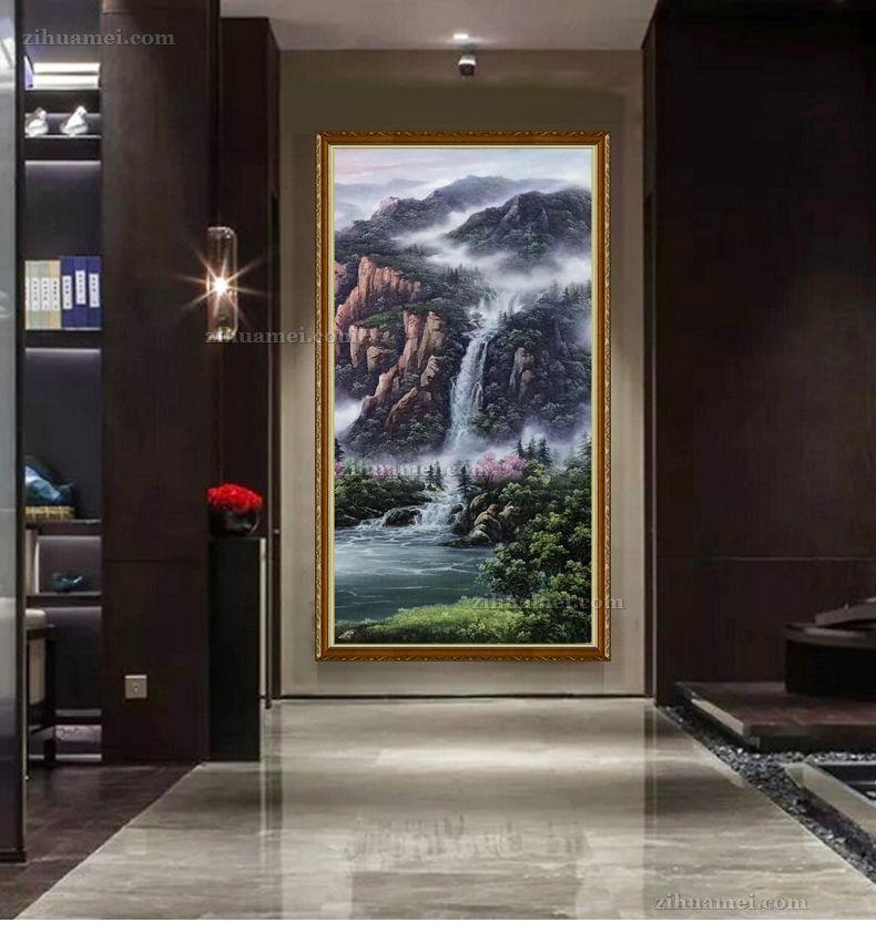 适合餐厅玄关客厅的中式风景油画