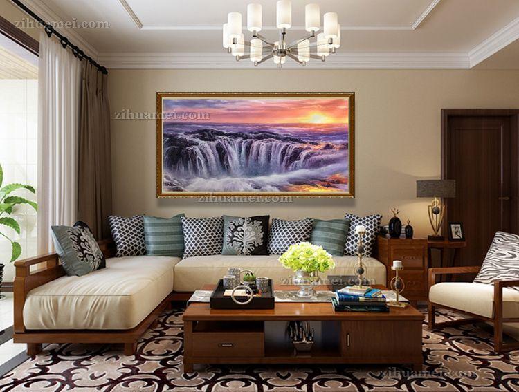 适合办公室会议室的风景油画