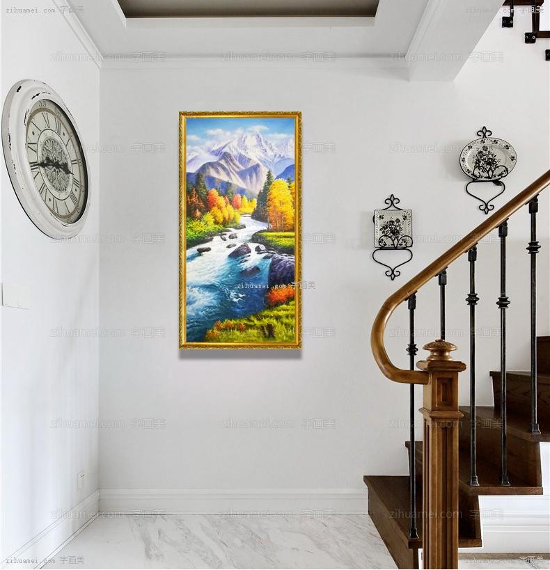 风景油画 山水画 中式油画