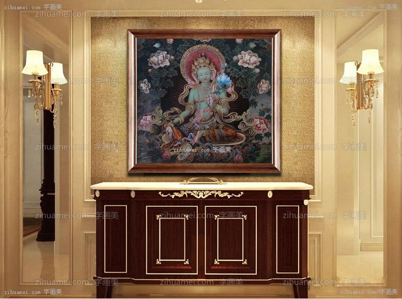 纯手绘手工 宗教油画