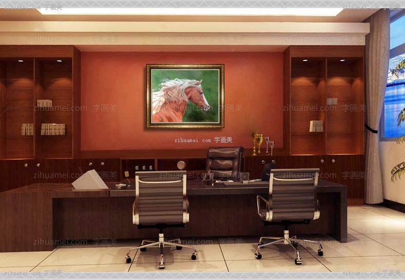 中式油画 骏马 奔跑跳动 高贵气质