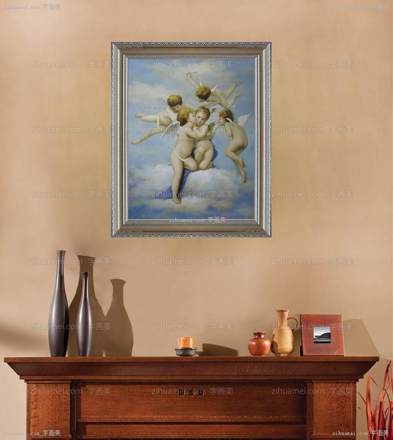 欧式经典油画 爱的天使