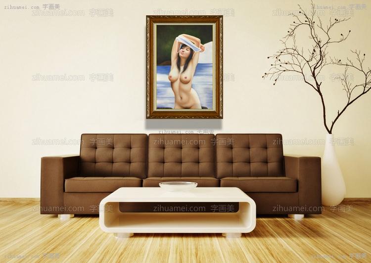 美女人体艺术油画手绘