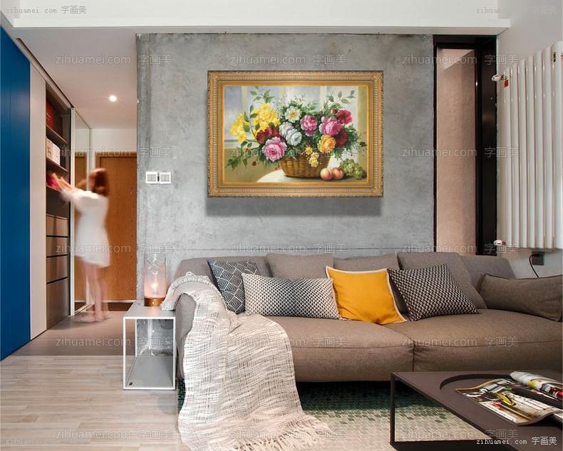 手绘油画欧式花卉