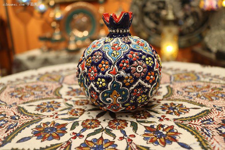 伊朗波斯纯手工艺品米娜mina陶瓷