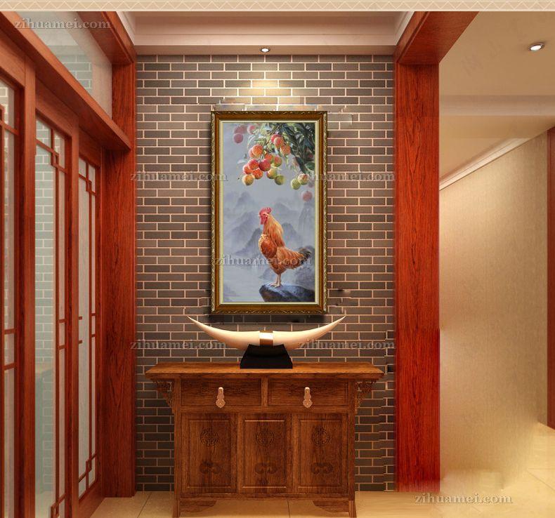 中式花鸟画手绘油画