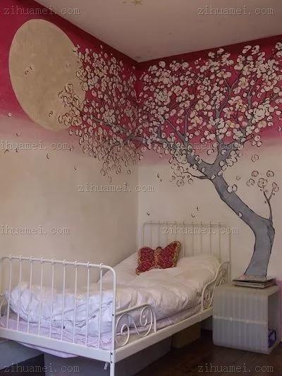 手绘卧室壁画